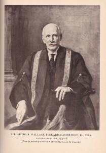 Sir Arthur Wallace Pickard-Cambridge, Vice Chancellor of the University of Sheffield